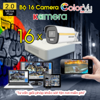 BỘ 16 CAMERA HIKVISION COLORVU 2.0MP