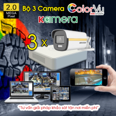 BỘ 3 CAMERA HIKVISION COLORVU 2.0MP