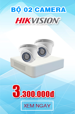 BỘ 2 CAMERA HIKVISION