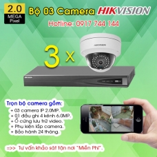 TRỌN BỘ 03 CAMERA IP HIKVISION 2.0MP