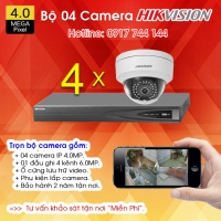 TRỌN BỘ 04 CAMERA IP HIKVISION 4.0MP